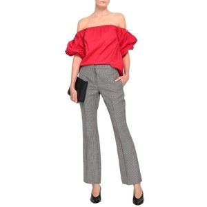 Petersyn Tara Red Puffy Sleeve Off Shoulder Top